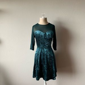 Cotton On Forest Green fit and flare dress